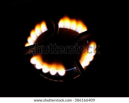 fire gas stoves - stock photo