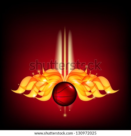 Fire Glow Ball. Raster copy of vector image - stock photo