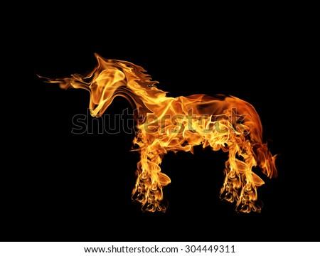 Fire Horse - stock photo
