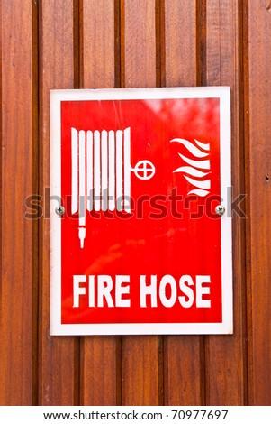 Fire hose - stock photo