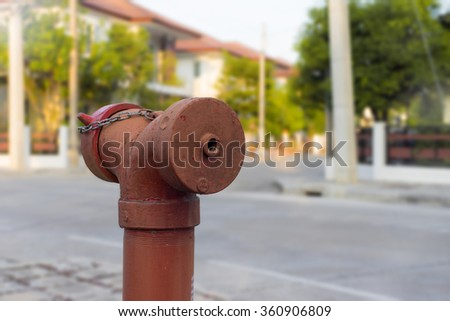 Fire hose nozzle - stock photo