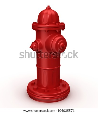 fire hydrant 3d illustration isolated on white