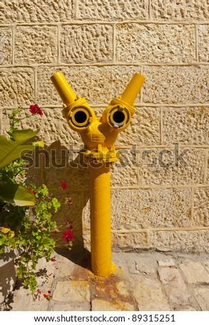 Fire Hydrant in Jerusalem, Israel - stock photo