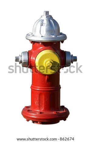 Fire hydrant that has been isolated - stock photo