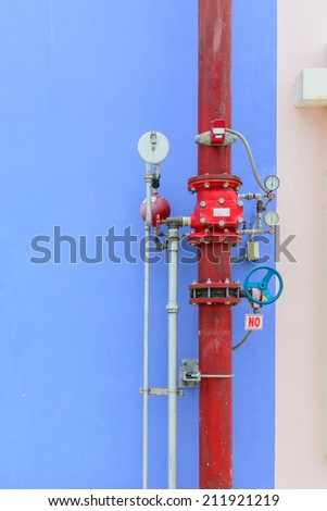 Fire hydrant with color wall