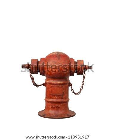 Fire Hydrant with isolated white background