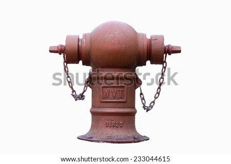 Fire Hydrant with isolated white background  - stock photo