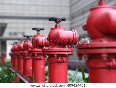 fire hydrants - stock photo