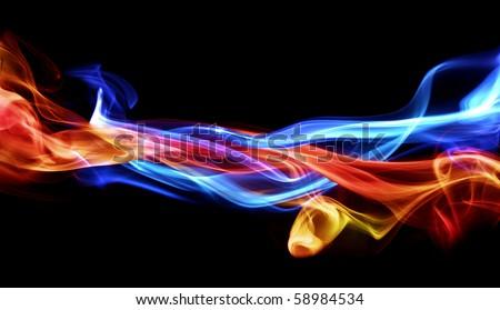 Fire & Ice design - stock photo