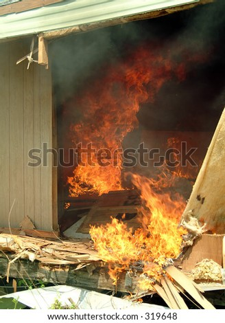 fire in a mobile home