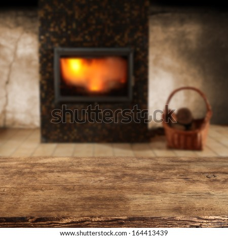 fire in home  - stock photo