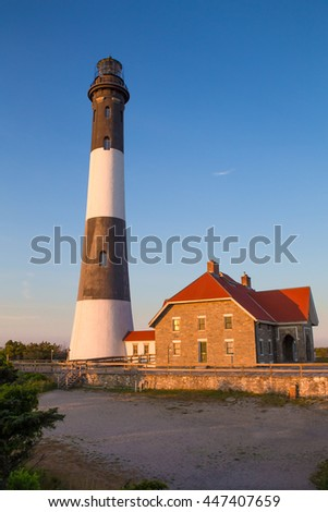 Fire Island Lighthouse At Robert Moses On Long New York