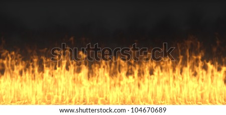fire isolated on a black background - stock photo