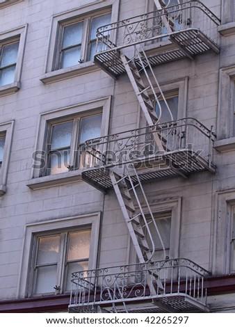 Fire Ladder - stock photo