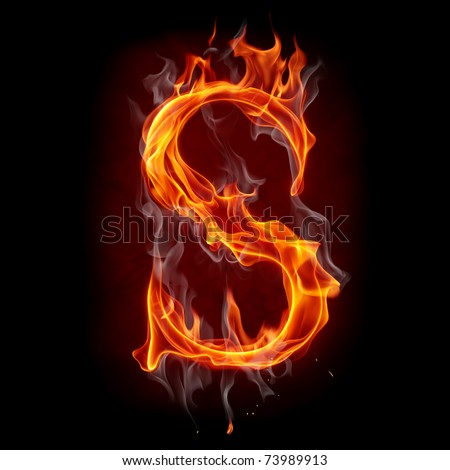 Fire letter - stock photo