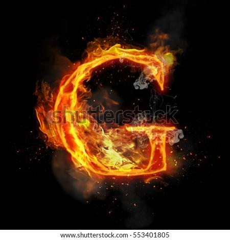 Fire Number 9 Nine Burning Flame Stock Illustration ...