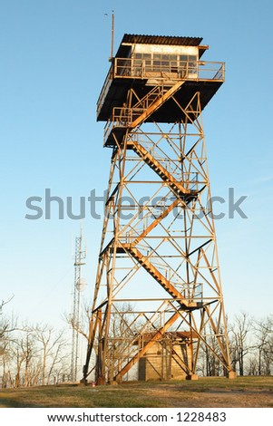 Fire Lookout Tower - stock photo