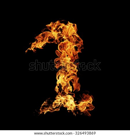 "Fire number ""1"" - stock photo"