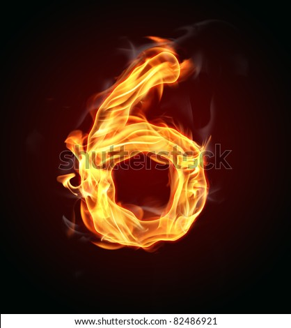 "Fire number ""6"" - stock photo"