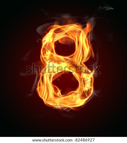 "Fire number ""8"" - stock photo"