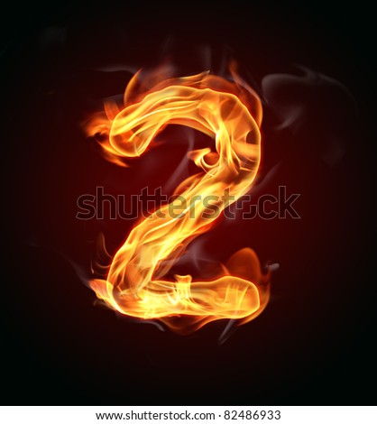 "Fire number ""2"" - stock photo"