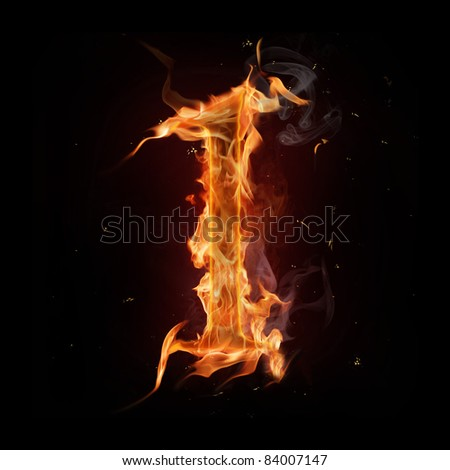 Fire number one - stock photo
