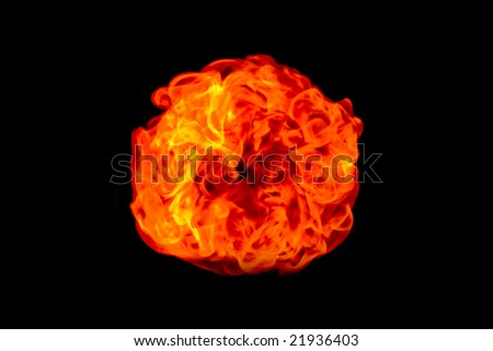 Fire on a black background. Flame