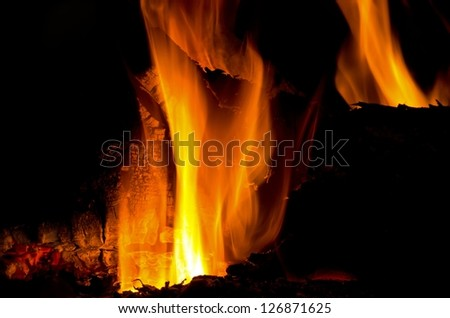 Fire on a cold winter's night
