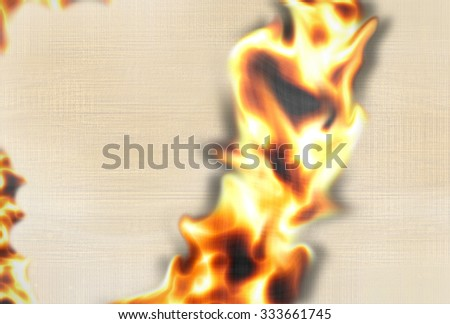 Fire paper texture - stock photo