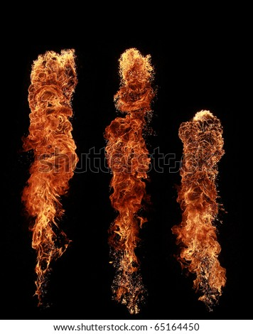 Fire pillars - stock photo