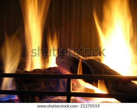 Fire place flames