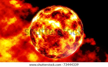 fire planet - stock photo
