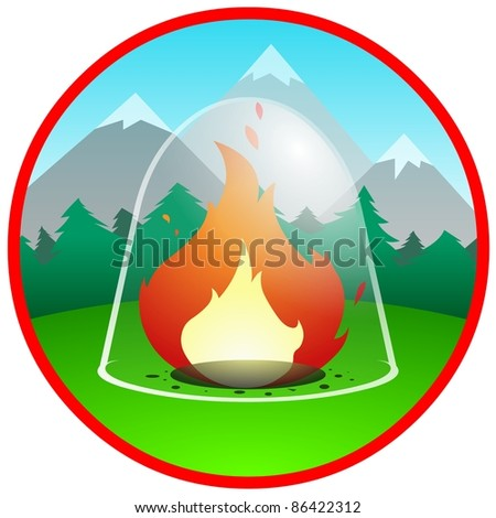 fire protection - stock photo