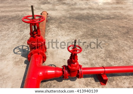 Fire protection main valve. - stock photo