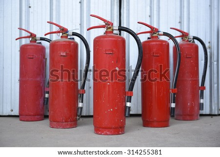 Fire safety extinguisher  - stock photo