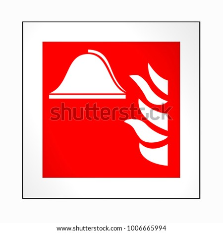Fire Safety Signs According Current Form Stock Illustration