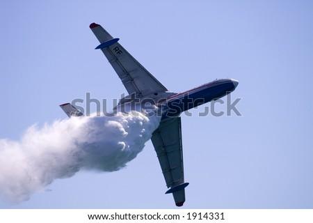 Fire seaplane - stock photo