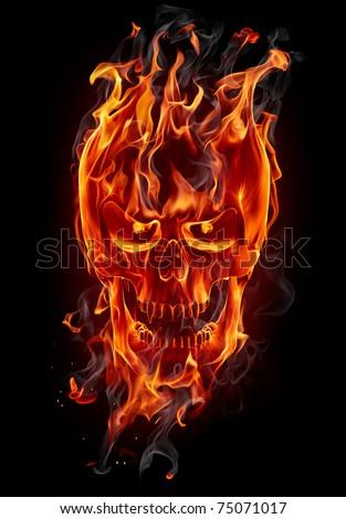 Fire skull stock illustration 75071017 shutterstock fire skull voltagebd Choice Image