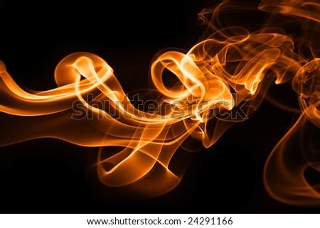 Fire smoke - stock photo