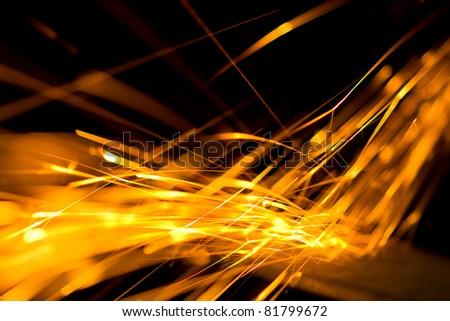 Fire Sparkler - stock photo