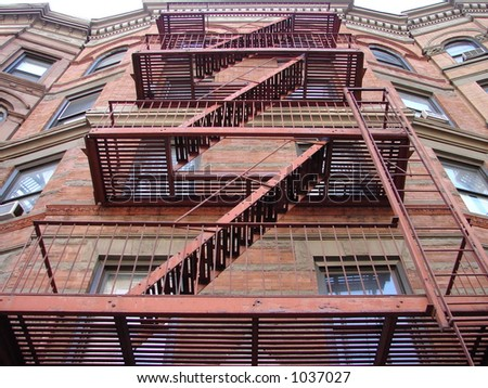 Fire Stairs - stock photo