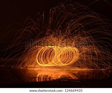 Fire Streaks - stock photo