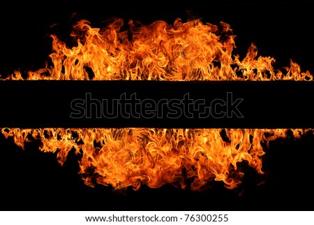 Fire stripe - stock photo