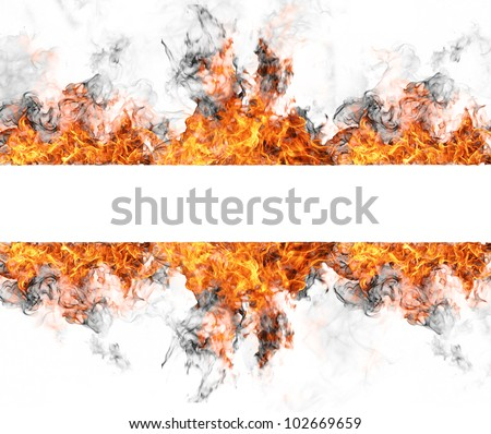Fire stripe, isolated on white background - stock photo