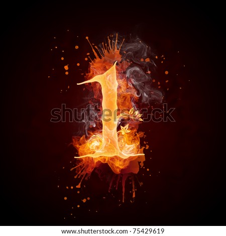 Fire Swirl Number 1 - stock photo