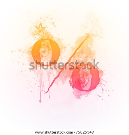 Fire Swirl Percent - stock photo