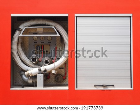 Fire truck control pannel - stock photo