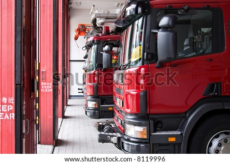 fire trucks - stock photo