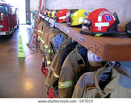 Fire Turnout Gear - stock photo