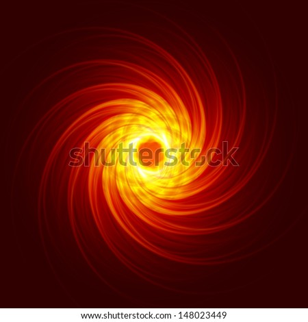 fire vortex, abstract background - stock photo